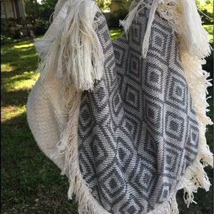 Handbags - Big Slouchy Hobo Style Cotton Hippie Fringe Bag